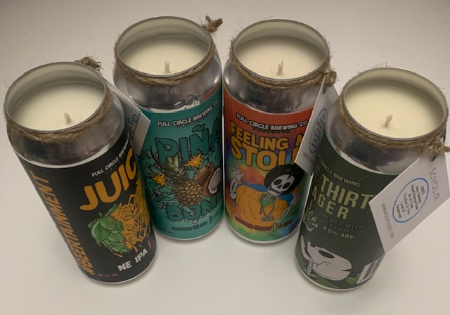 Green Cheek Soy Beer Can Candle